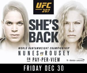 RONDA ROUSEY COLLIDES WITH CHAMPION AMANDA NUNES IN RETURN TO ACTION